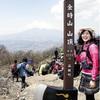 金時山頂上に「マサカリ」標柱…金太郎にちなむ