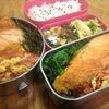 【1食133円】鮭弁当レシピ ~副菜おかずに京人参しりしり、ほうれん草おかか和え、佃煮をご飯にのせて~【パパ手作り節約弁当】
