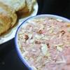 スパム、缶詰のコンビーフのパテ