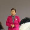 12日、福島市女性後援会お楽しみ会で議会報告。
