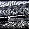 日本の瓦屋根の美しさを切り絵に