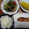 晩の食生活シリーズ 旬なトウモロコシが、よく食卓に並びます!!!