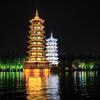 中秋節桂林旅行(3)桂林市内の両江四湖ナイトクルーズ