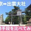 【 東京から出雲大社】飛行機・新幹線・新台列車を比べてみた!