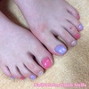 お気に入りの3色で♡パール系 de ワンカラーネイル☆フットジェル