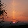 新潟の空に めずらしい太陽柱