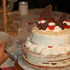 2段クリスマスケーキを作りました(⌬̀⌄⌬́)