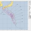 【九州上陸】台風19号ソーリック進路予想の米軍最新発表データ