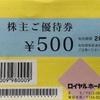 【株主優待No.6】ロイヤルホールディングスの株主ご優待券