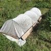 ひとはな農園たより「寒冷紗シートの設置」