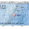 2017年08月18日 23時29分 種子島南東沖でM3.1の地震