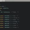はてなブログのソースコードのシンタックスハイライトにvim黒背景カラーテーマHybridBright/inkpotを適用してみました