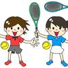 スポーツジムのインドアテニス、今月から再開されました。