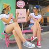 大阪・天王寺のペッカプ(Pecca+pu)は可愛い店外・店内、バス停もアイスも可愛すぎてインスタ映えだぞっ! #peccapu