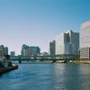 清洲橋から河口を眺める
