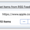 Get Items from RSS Feed