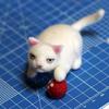 フェルト 白猫
