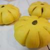 かぼちゃパン&グリッシーニの試作をしています