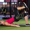 殿筋の活性化低下(殿筋の活性低下はACL断裂と同時に発生する膝蓋大腿疼痛症候群のリスク因子であるとされている)