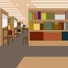 「中高齢者の憩いの場、図書館」