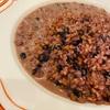 蕎麦、黒千石、レンズ豆の赤ワインリゾット