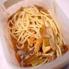 昼食:タッパーと菜箸使ってカレー・スパ
