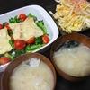 ブロッコリーチーズ焼き、白菜漬け、味噌汁