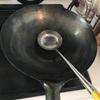 中華鍋をセットアップする朝。