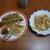 幸運な病のレシピ( 499 )昼:餃子、ゴーヤチャンプル、アジのフライの仕立直し
