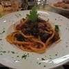 イタリアで食べたものー黒キャベツとミートボールのパスタ