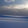 薄紫の雪に広がる淡い色
