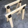 【DIY】「2x4材」と「ソーホースブラケット」で【作業台】を作る方法