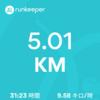 この時期のジョギングって…朝でも暑いよね!!!(当たり前)