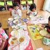 1年生:給食でお月見