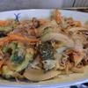 幸運な病のレシピ( 1335 )夜:ゴーヤと野菜の炒め(味噌味)、ベビーホタテ天ぷら、ワカメサラダ(ゴマ酢)