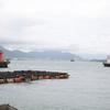下関外浜町防波堤灯台+あるかぽーと東防波堤灯台