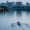 大川の漕艇練習