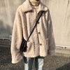 【韓国ファッション】レディース ショートコート コート もこもこジャケット