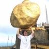 """【世界一周①①】ミャンマーの""""きゃんたま""""こと""""Golden Rock""""!【絶景】"""