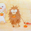 柿が色づく季節、犬の話。