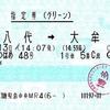 リレーつばめ48号 指定券(グリーン)