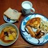 幸運な病のレシピ( 2270 )昼:血糖値の上がらないサンドイッチ(6枚切りー>12枚切り)、煮しめ