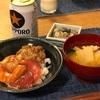 海鮮爆弾丼、豚汁、(大人だけ)牡蠣
