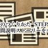 資料のつくりかた STEP1 1分間の説明ストーリーをつくる