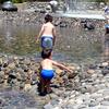 モリコロパークで水遊び