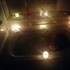 お風呂でリラックス キャンドルとアロマポットでゆったりと