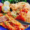 【トンカツの低糖質版】ポークピカタのトマトソース添え(動画レシピ)/Pork Piccata with Tomato Sauce.