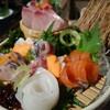 日本海の食事と酒、囲炉裏を囲んで@方舟