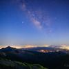 【天体撮影記 第138夜】 鹿児島県・宮崎県 韓国岳山頂から見る夜景と夏の天の川