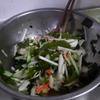 幸運な病のレシピ( 1953 )朝:鮭、塩サバ、鶏むねスパイス焼き、海鮮サラダ、味噌汁、マユのご飯